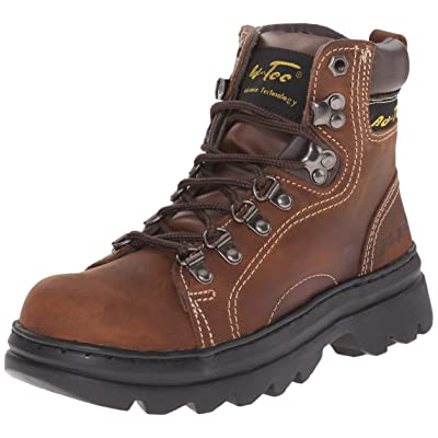 "AdTec Women's 6"" Work Hiker Brown Work Boot 