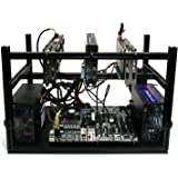 FLEX 6.1 GPU Mining Rig Open Air Frame Computer Case Chassis with 6 USB Risers - Ethereum ETH ZEC BTC