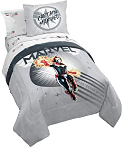 Jay Franco Captain Marvel Cool Energy Bed Set, Full