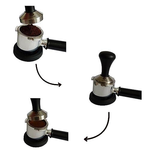 Ablauf des Tamperns mit dem Espresso Tamper