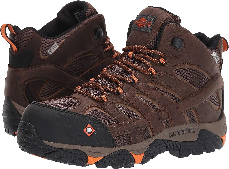 [メレル] メンズハイキングアウトドアブーツ・靴 Moab Vertex Mid Waterproof Composite Toe Clay 9 (27cm) M [並行輸入品]