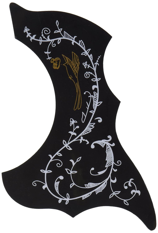 1pc Acoustic Guitar Pickguard Scratch Plate Sunbird Black Ltd A1895