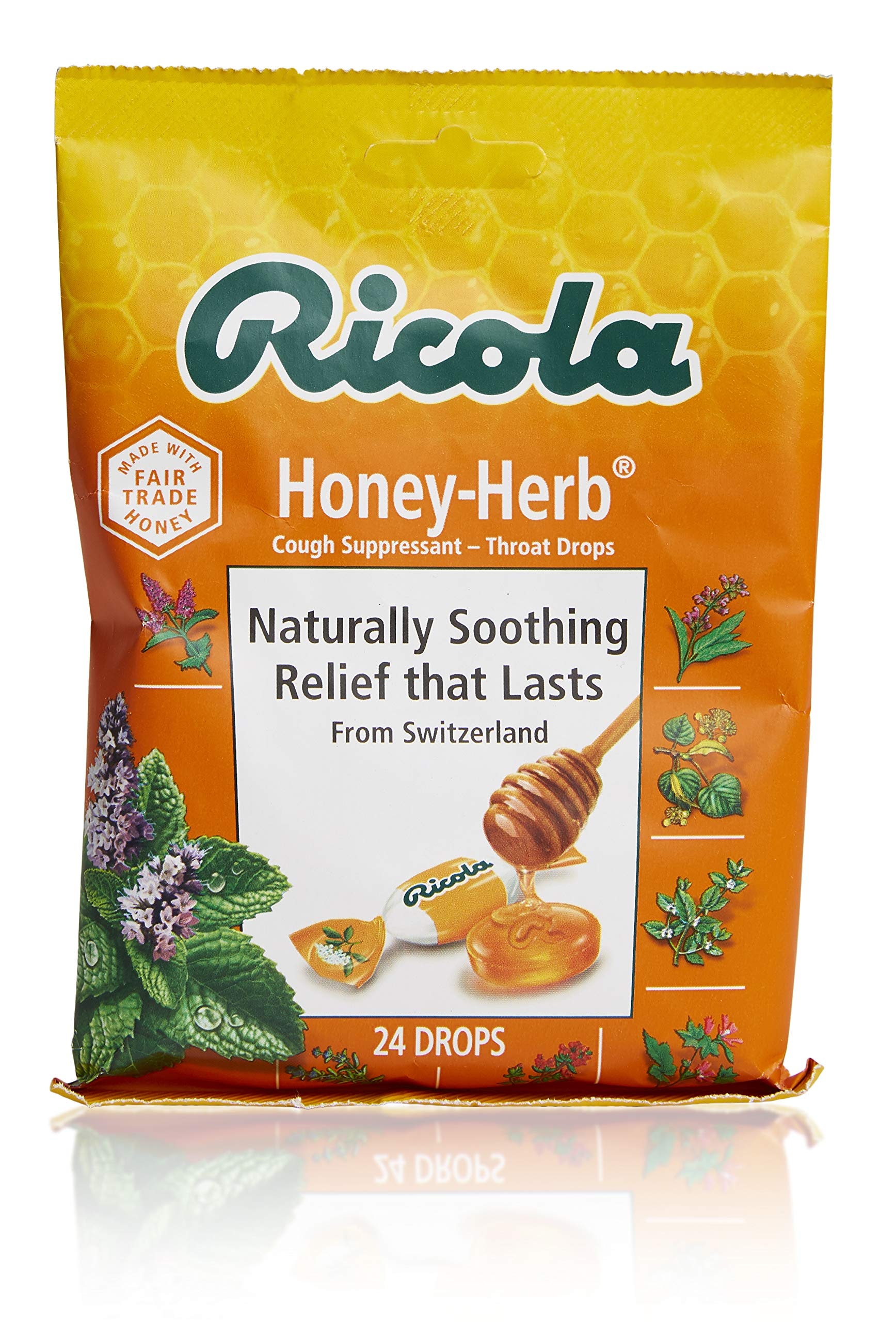 Ricola Natural Honey Herb 24 Drops