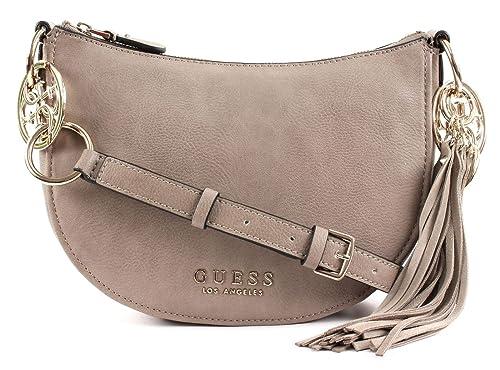 920cf3d4bc GUESS Alana Crossbody Top Zip Taupe  Amazon.co.uk  Shoes   Bags