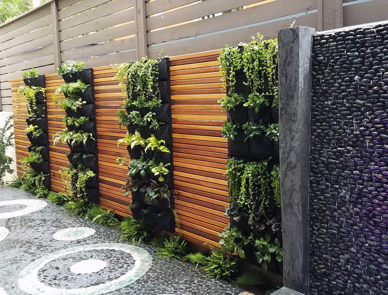 Amazon Com Delectable Garden Cloth 12 Pocket Hanging Vertical Garden Wall Planter For Yard Garden Home Decoration Garden Outdoor