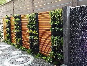 Delectable Garden Cloth 12 Pocket Hanging Vertical Garden Wall Planter for Yard Garden Home Decoration