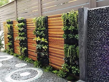 Delectable tela de jardín con 12 bolsillos para colgar en la pared, para jardín, decoración del hogar: Amazon.es: Jardín