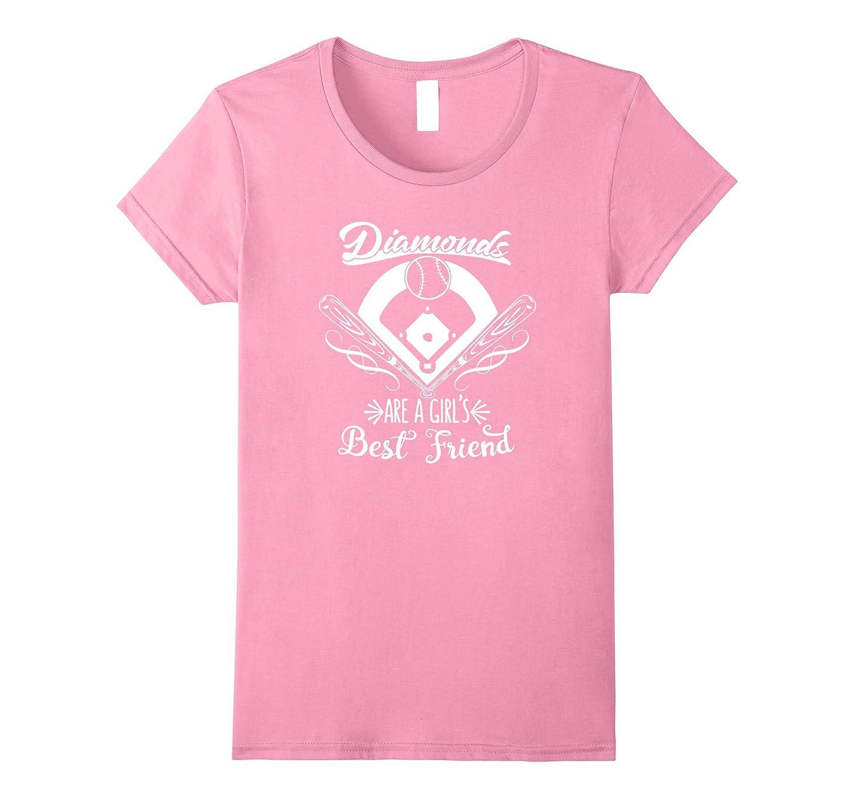 Diamonds Are A Girls Best Friend Softball T-Shirt