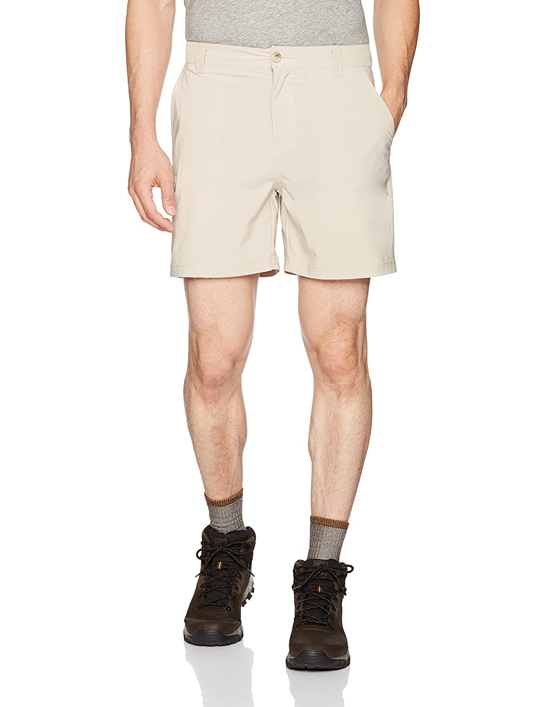 Columbia Men's Super Grander Marlin Shorts, Fossil Heather, 30 x 6