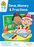 School Zone - Time, Money & Fractions Workbook - Ages 6 to 8, 1st & 2nd Grade Math, Adding Money, Counting Coins, Telling Time, and More (School Zone I Know It!® Workbook Series)