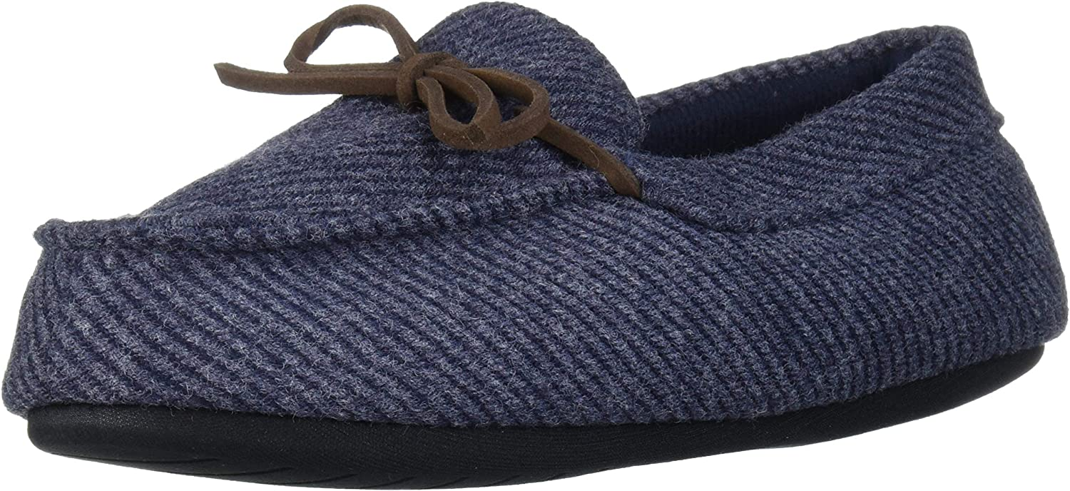Dearfoams Kids Df Toddlers Moccasin with Tie Slipper