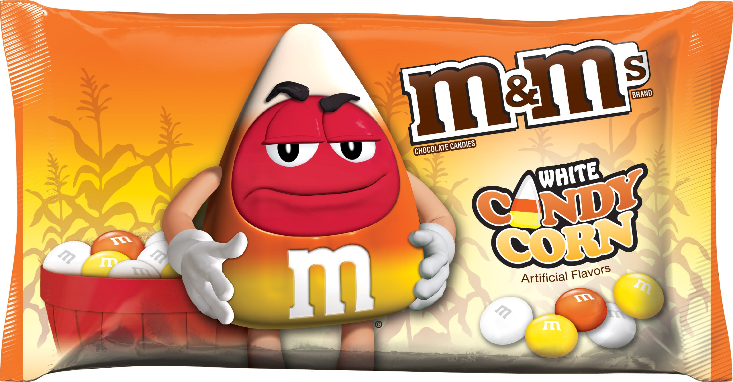 M&M's White Candy Corn Chocolate Candy, 8 Ounce Bag (Pack of 24)