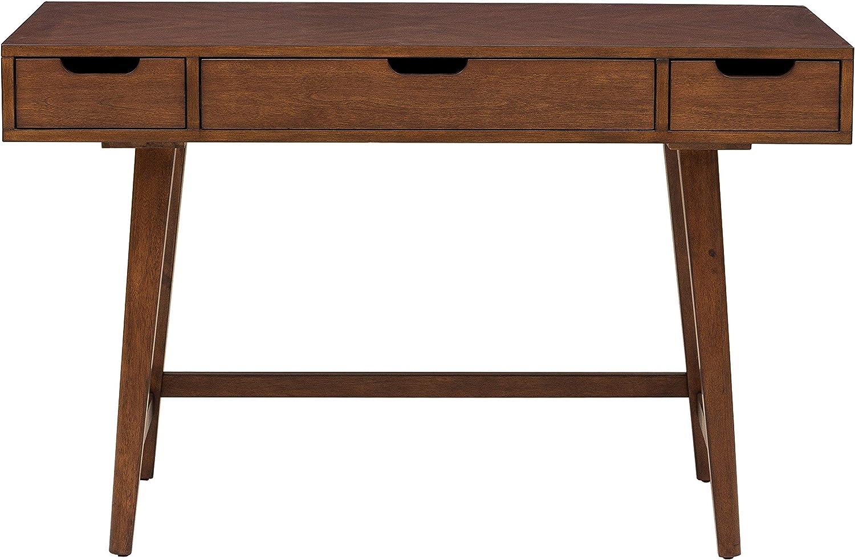 Pulaski Three Drawer Mid-Century Modern Writing Desk