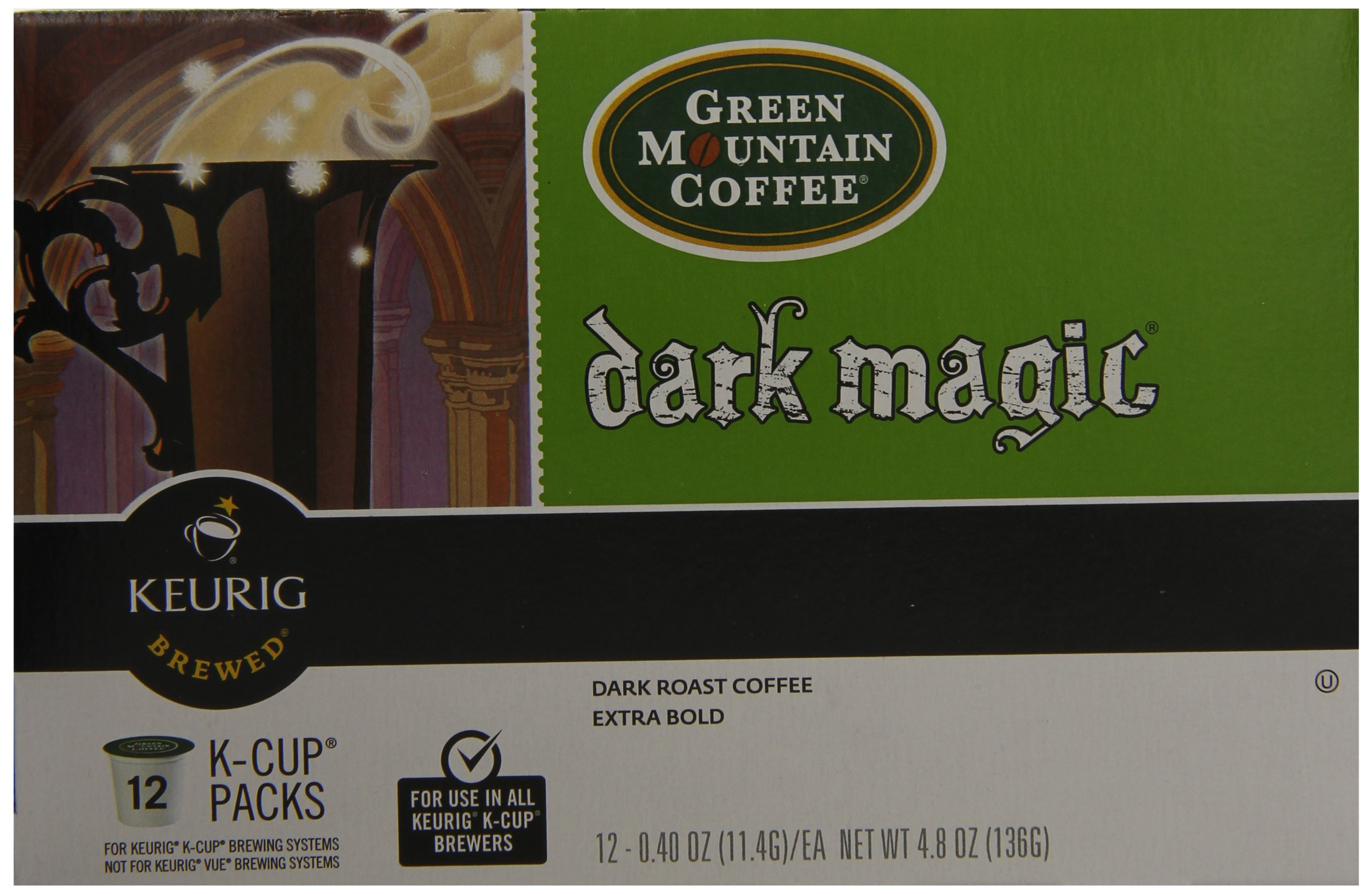 Green Mountain Coffee, Dark Magic (Extra Bold), 12-Count K-Cup Portion Pack for Keurig Brewers (Pack of 3) by GREEN MOUNTAIN COFFEE ROASTERS (Image #3)