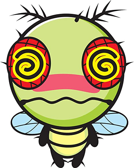 Amazon Com Green Hypnotized Zombie Bumble Bee Kawaii Insect