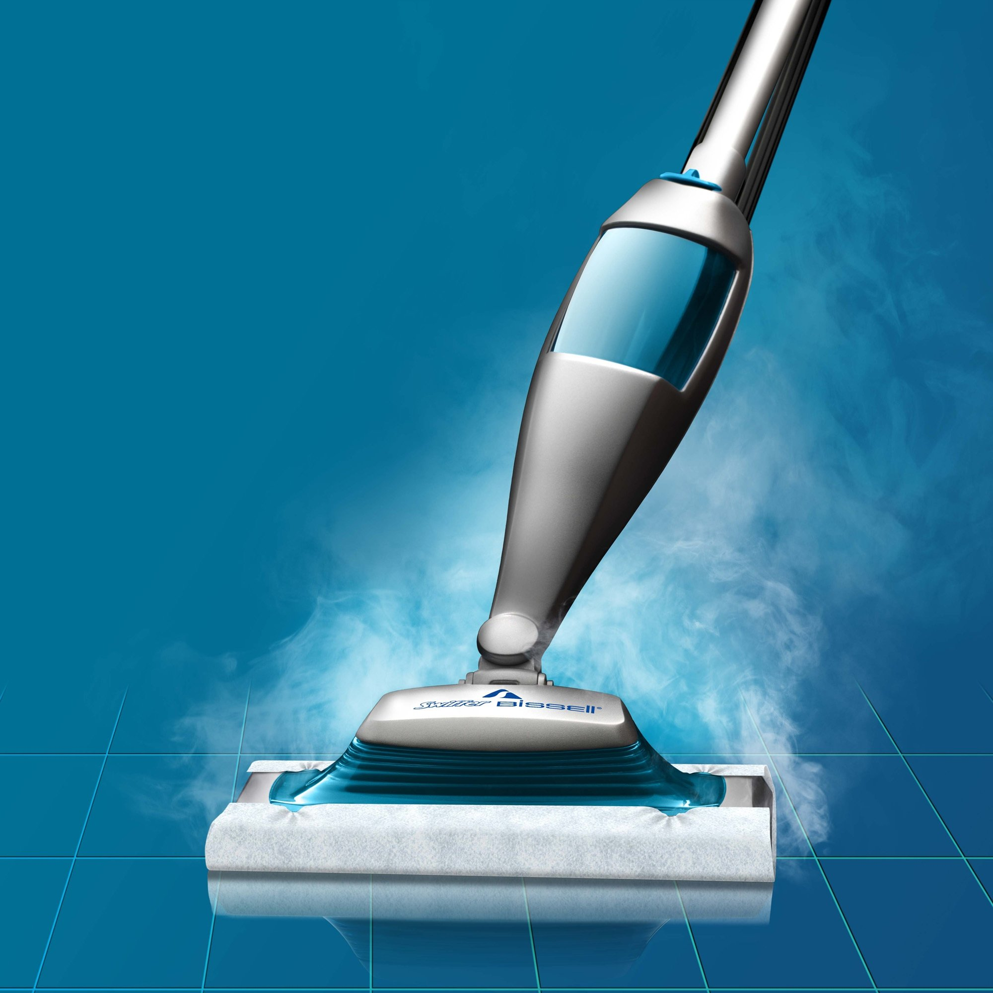 Swiffer SteamBoost Deep Cleaning Steam Mop Starter Kit, Powered by Bissel, Hardwood and Floor Cleaner, Includes: 1 Steam Mop, 2 Steam Mopping Cloth by Swiffer (Image #4)
