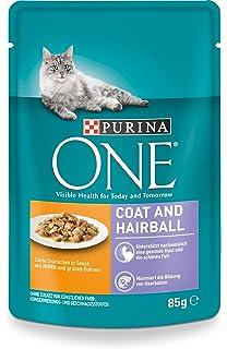 Purina One Gato húmedo Forro Coat & Hair Pelota, con Pollo y Granos Verdes,
