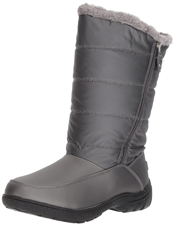 Sugar Women's Lucille Tall Shaft Faux Fur Waterproof Snow Winter Weather Boot B076BTTBST 10 B(M) US|Pewter