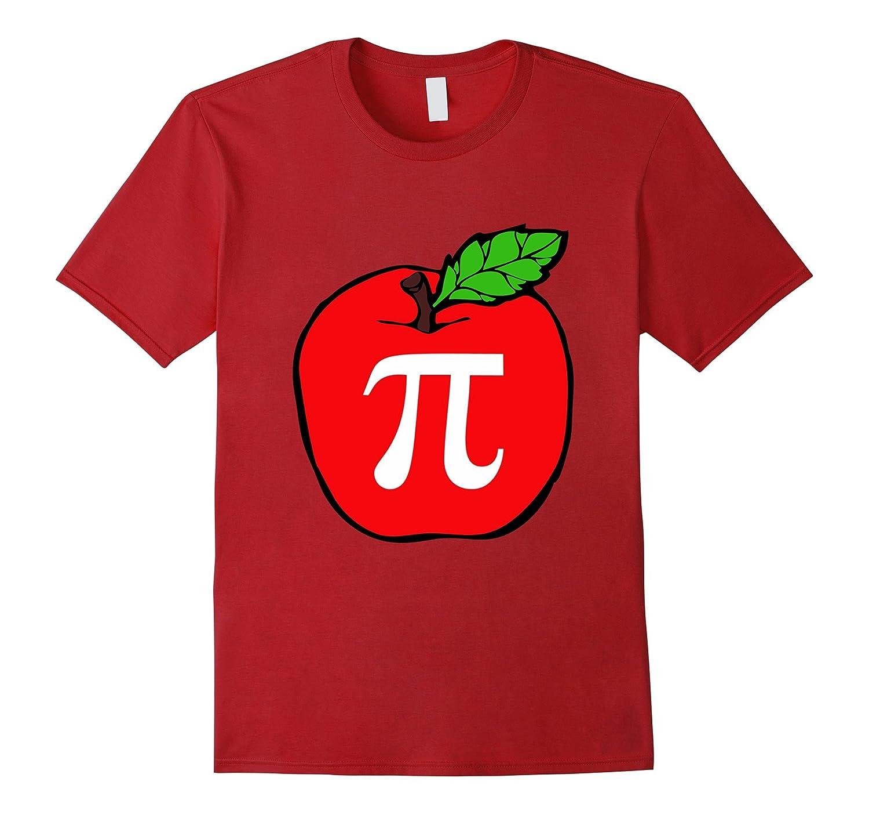 Apple Pi Pie Pun TShirt Math Students Teachers Professors-TD