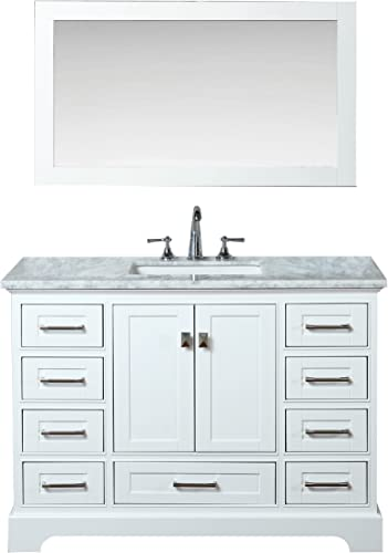 Stufurhome HD-7130W-48-CR Newport Single Sink Bathroom Vanity Set
