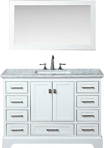 Stufurhome HD-7130W-48-CR Newport Single Sink Bathroom Vanity Set