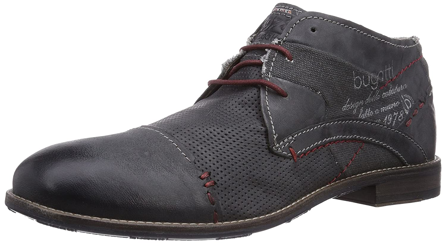 R09021g6, Mens Cold Lined Classic Boots Short Length Bugatti