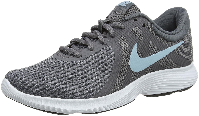 Nike Wmns Revolution 4 EU, Zapatillas de Running para Mujer 37.5 EU Gris (Gun Smoke/ Ocean Blissdark/ Grey /White/Black 004)