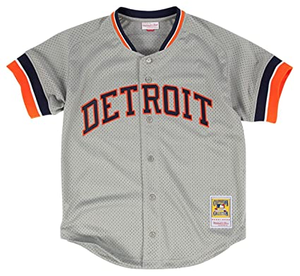 new styles 7c852 8427a Mitchell & Ness Kirk Gibson Grey Detroit Tigers Authentic Mesh Batting  Practice Jersey