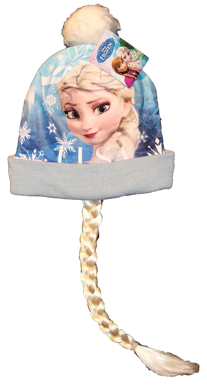 Disney Frozen Die Eiskönigin Wintermütze mit Elsa Zopf Gr. 52 in verschiedenen Farben (HO4569)