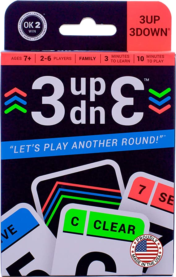 Ok2Win 3UP 3DOWN Card Game | Best Fun Family Games for Kids