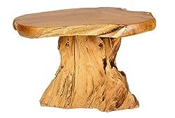 Windalf - Tavolino da Balcone Nadia B: 76 cm, da Giardino e da caffè, Pezzo Unico Fatto a Mano
