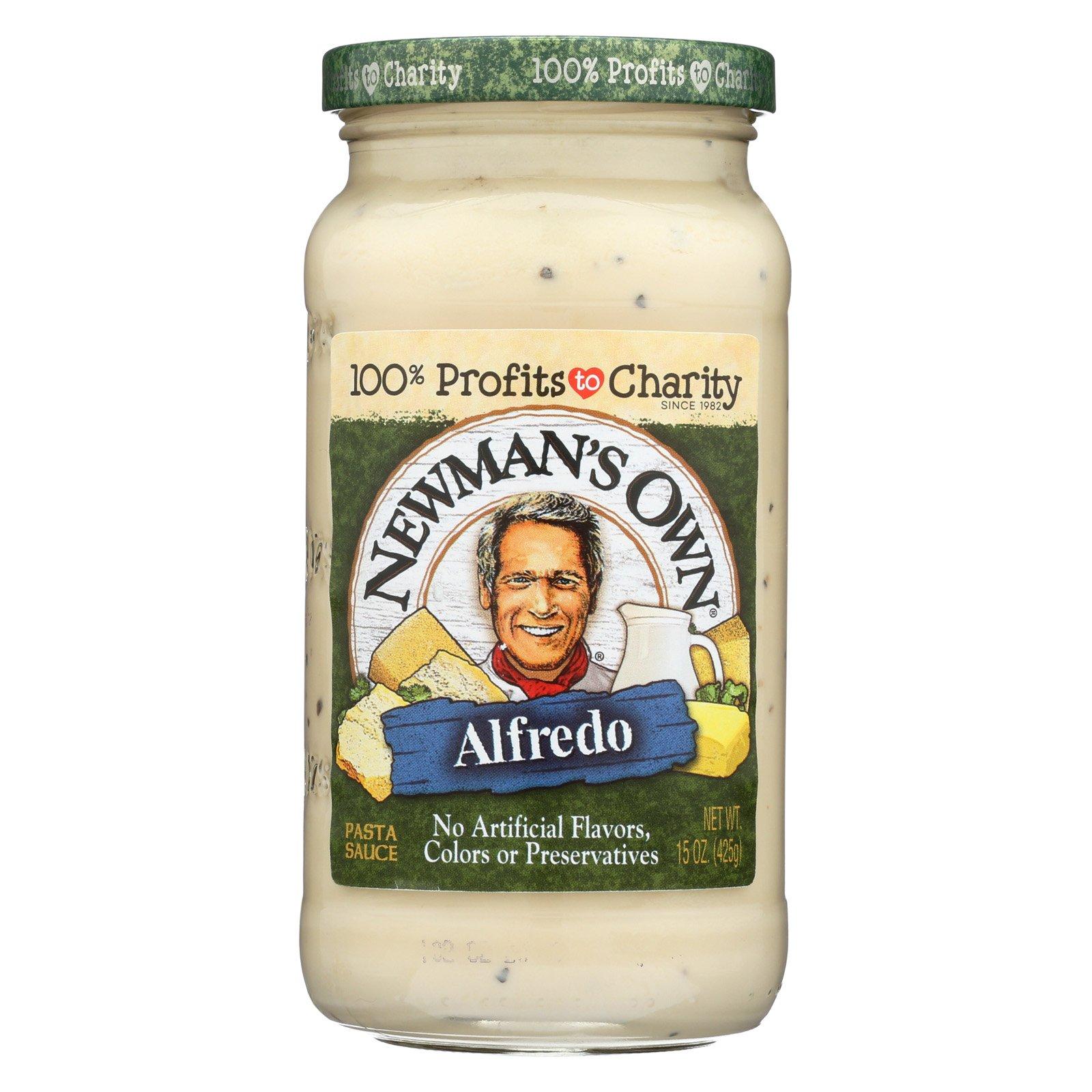 Newman's Own Pasta Sauce - Alfredo - Case of 12 - 15 Fl oz.