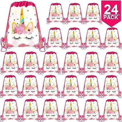 Amazon.com: POKONBOY 24 bolsas de fiesta de unicornio ...