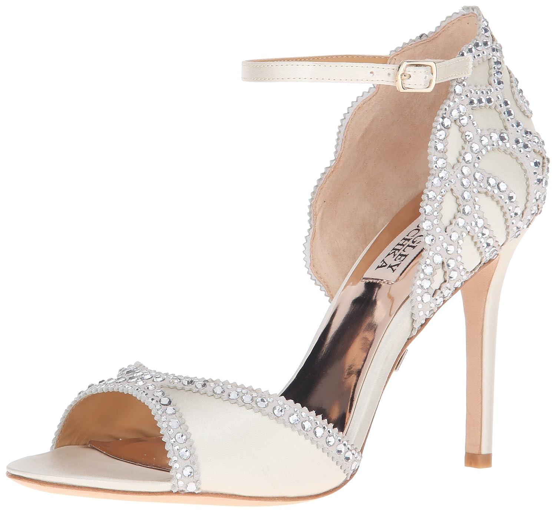 Ivory Badgley Mischka Womens Roxy Heeled Sandal
