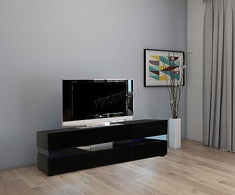 Mobile Tv Moderno Led : Foxhunter moderno laccato opaco porta tv per mobile tv nero rgb