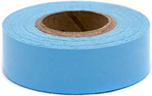 ChromaLabel 3/4 Inch Clean Remove Color-Code Tape, 500 Inch Roll, Light Blue