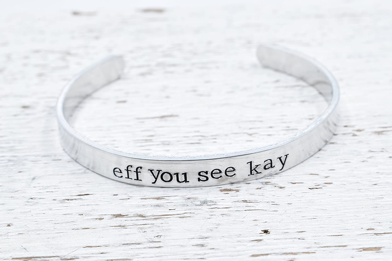 Eff you see kay bracelet Hand stamped