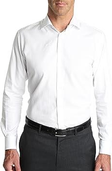 Caramelo, Camisa Vestir Regular Cuello Italiano, Hombre: Amazon.es: Ropa y accesorios