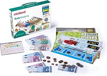 Miniland - Activity Euro, juguete de 18 actividades para el aprendizaje de las monedas y billetes (45308) , color/modelo surtido: Amazon.es: Juguetes y juegos