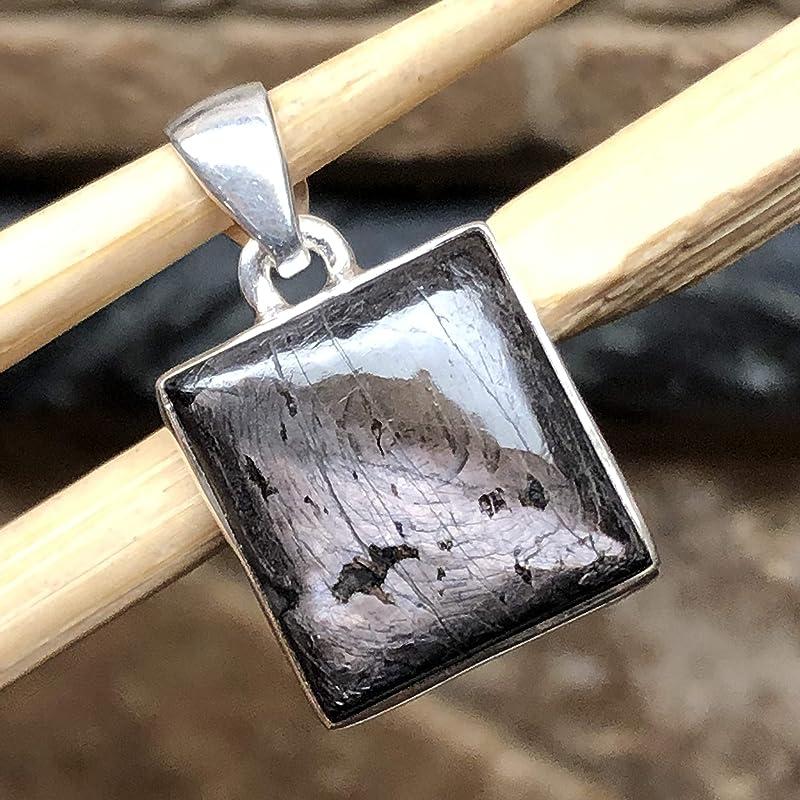 Natural Hypersthene Sterling Silver Pendant