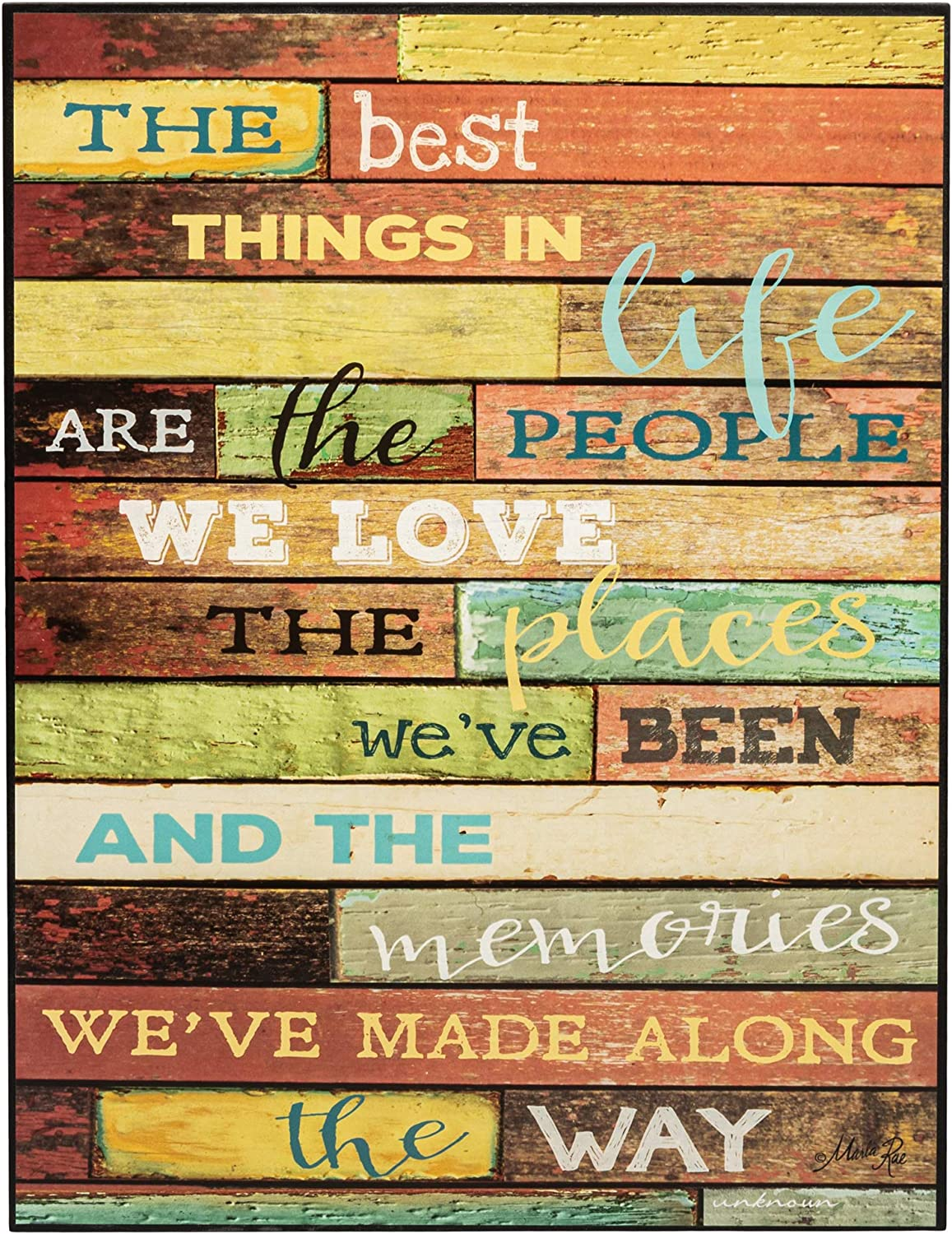 P. Graham Dunn Best Things in Life People Places Memories 16 x 12 Distressed Wood Print Overlay Wall Art Sign
