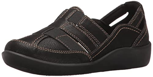 CLARKS Womens Sillian Stork Closed Toe Casual Sport Sandals Black Size 85