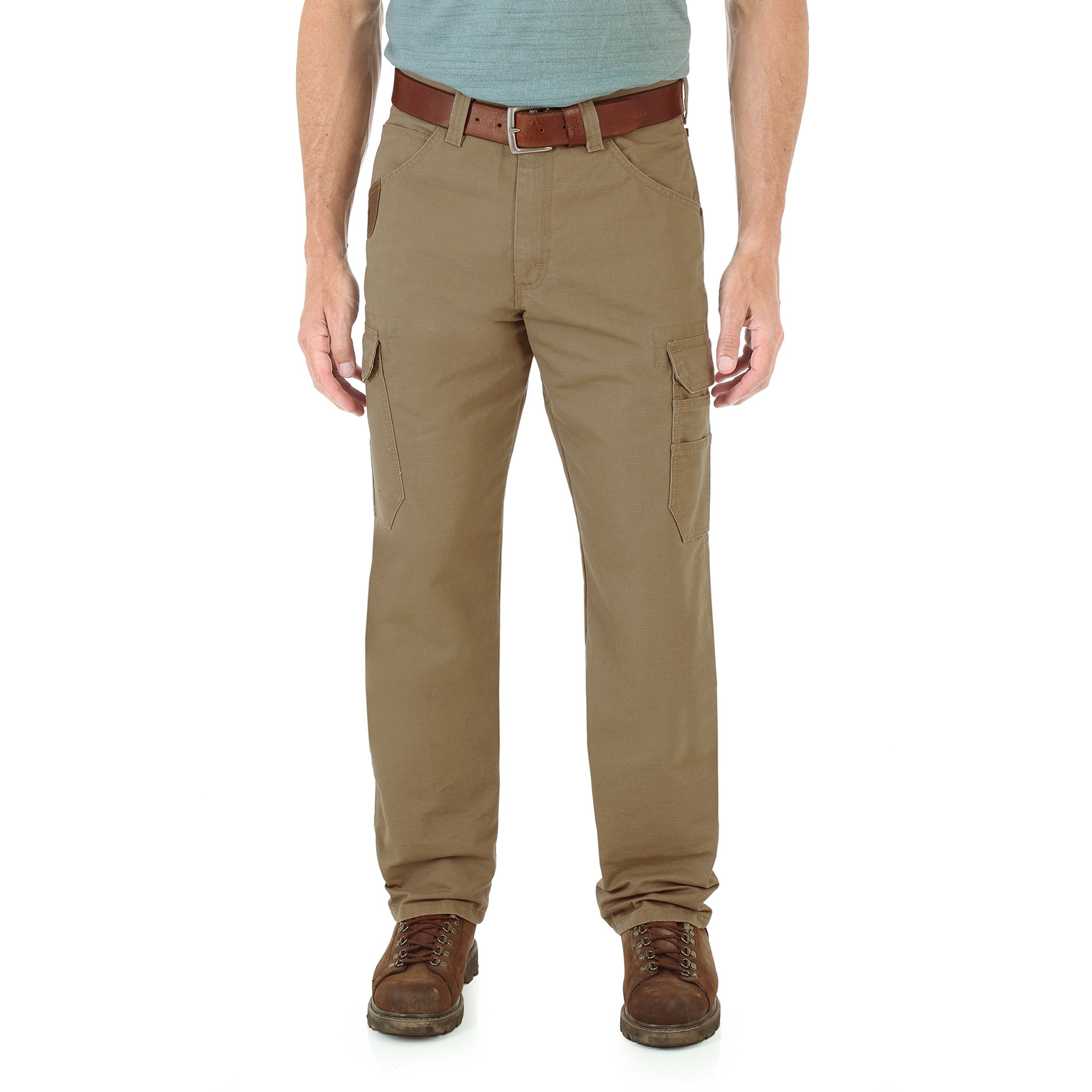 Wrangler Men's Riggs Workwear Cool Vantage Ripstop Cargo, Rawhide, 33x34