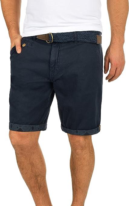 TALLA S. Indicode Inka Chino Pantalón Corto Bermuda Pantalones De Tela para Hombre con Cinturón de 100% Algodón Regular-Fit