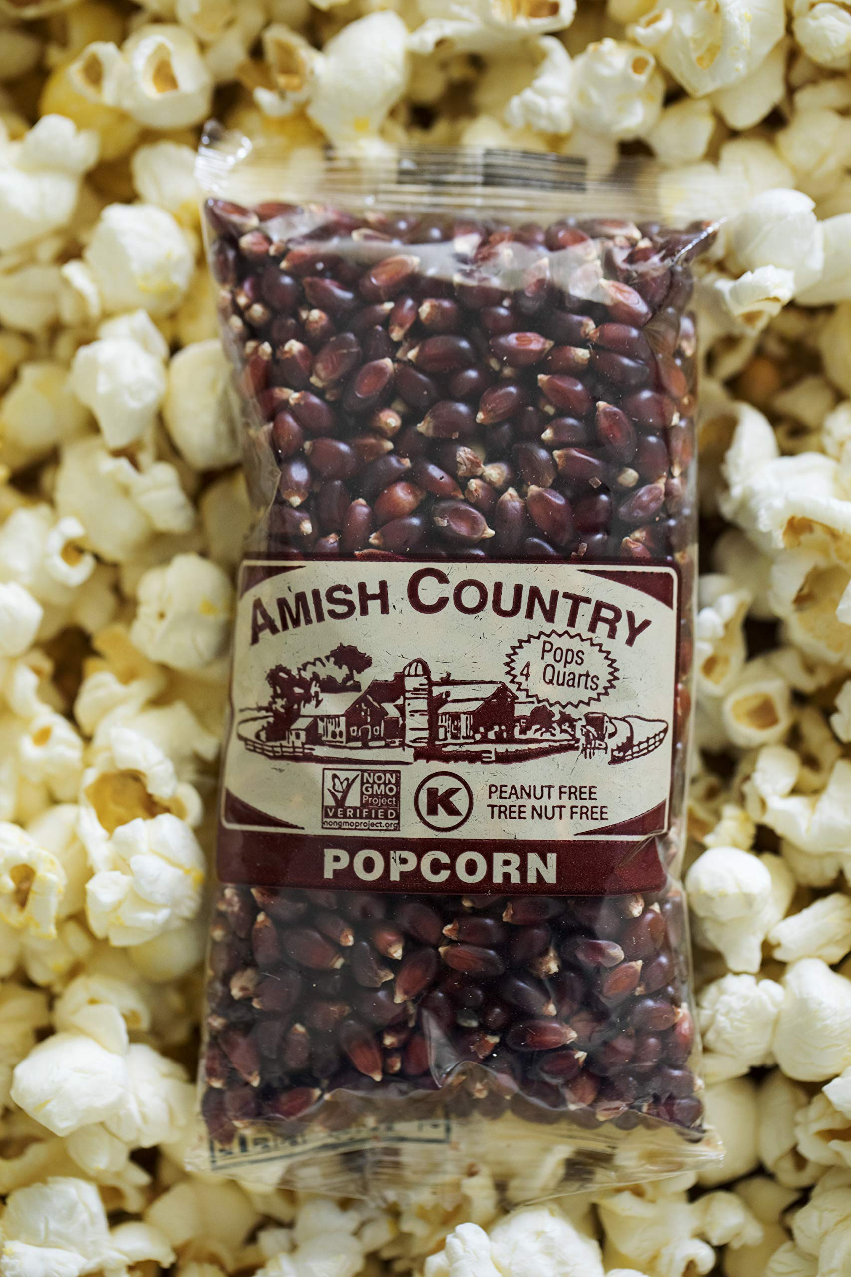 Amish Country Popcorn - Red Popcorn (4 Ounce - 24 Pack) - Old Fashioned, Non GMO, and Gluten Free - with Recipe Guide by Amish Country Popcorn (Image #5)