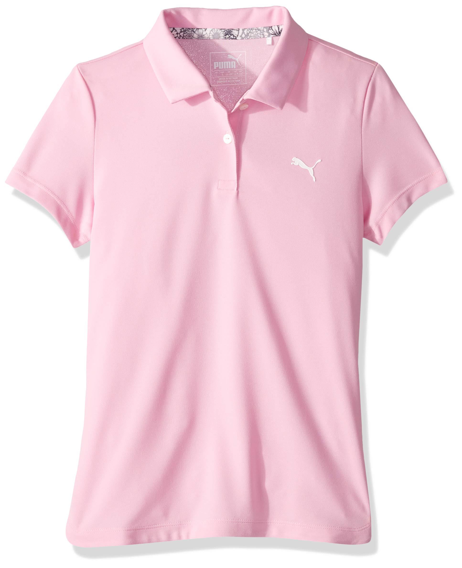 Puma Golf Girls 2019 Polo, Pale Pink, x Small by PUMA