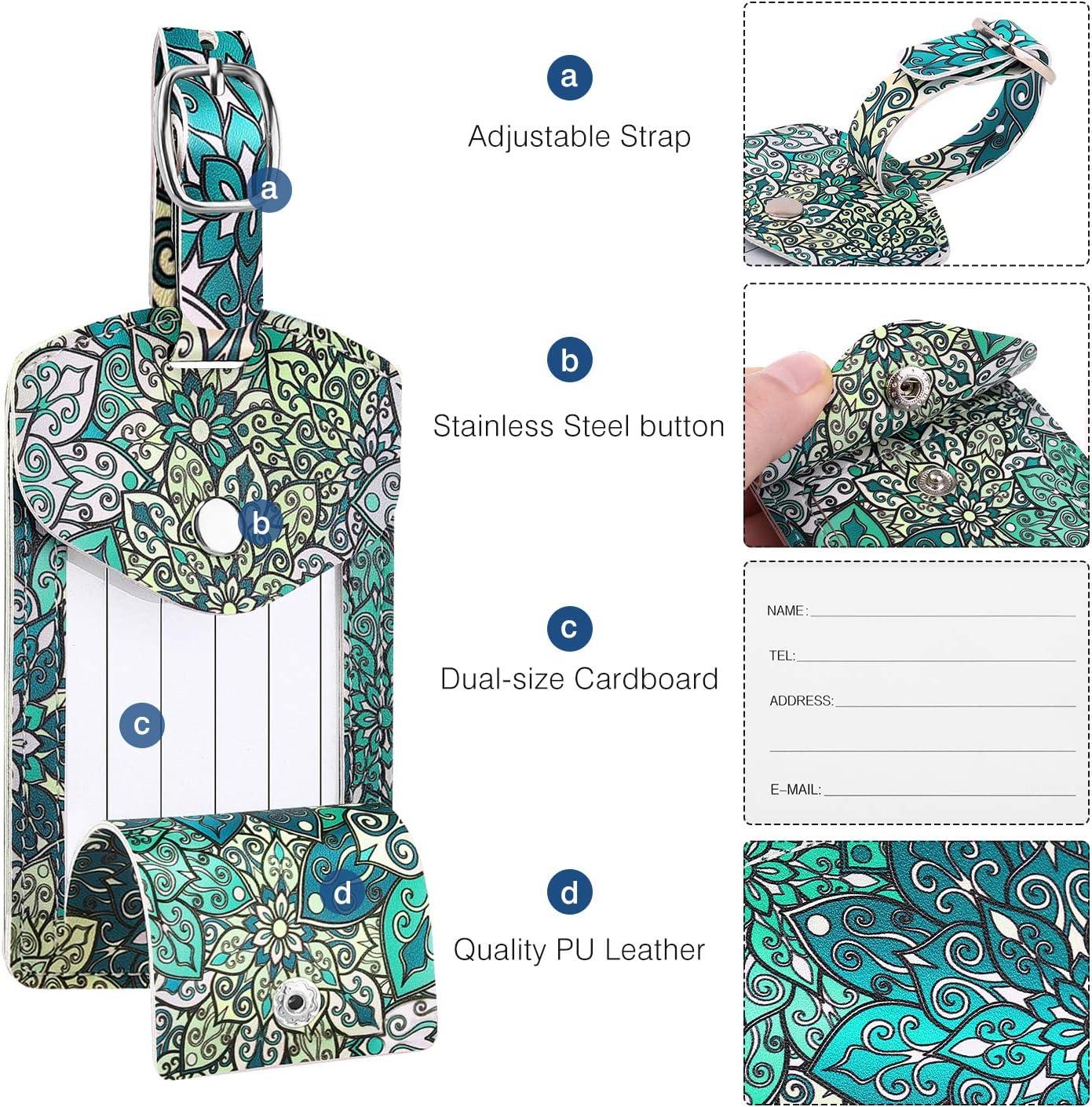 Gep/äckanh/änger ID Etikett mit Adressschild Namenschild f/ür Reisetasche Koffer Handtasche Geometrischer Marmor /& Wei/ßer Marmor MoKo Kofferanh/änger aus Kunstleder 2 St/ück