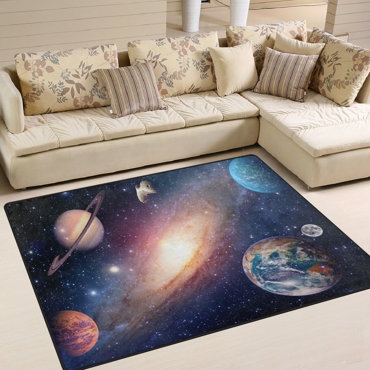 ALAZA Universe Star Planet Space Area Rug Rugs for Living Room Bedroom 5'3 x 4' g3599659p147c162s244