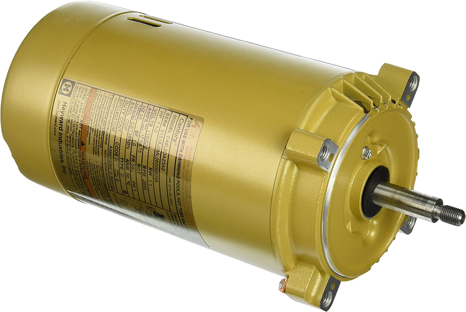 Hayward SPX0140Z1CM 50 Cycle Motor Replacement for Hayward Super II Series Pump, 1-1/2-HP