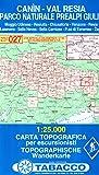 Canin, Val Resia, Parco Naturale Prealpi Giulie: Wanderkarte Tabacco 027. 1:25000 (Cartes Topograh)